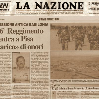 """05 ottobre 2003 Il 6° Reggimento rientra a Pisa """"carico"""" di onori"""