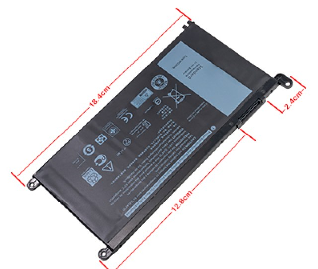 Replacement Notebook Battery For Dell Inspiron  4 Volt Li Polymer Laptop Battery