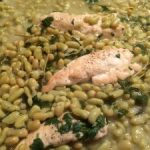 Chicken with lemon and beans