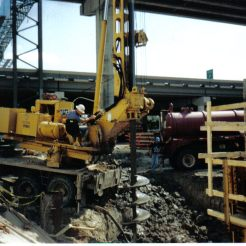 Drilling 60' Elevator Shaft at George R. Brown Center: Houston, TX