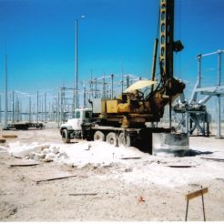 "Drilling 72"" Rock Hole at Substation: Big Spring, TX"