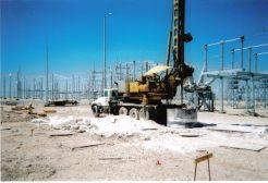 """Drilling 72"""" Rock Hole at Substation: Big Spring, TX"""
