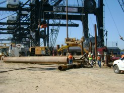 Drilling at the Port of Houston Container Ship Terminal: Houston, TX