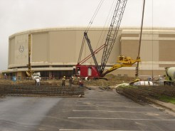 Drilling Solider Piers at Cox McFerrin/Reed Arena: College Station, TX