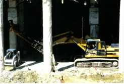 Manuervering Low Clearance Drilling Machine at Cox McFerrin: College Station, TX