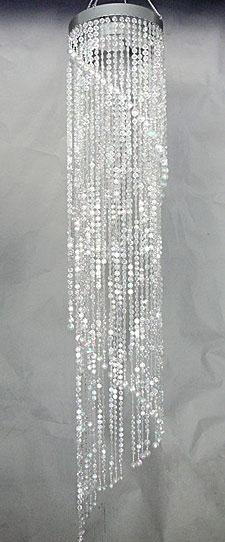 48 Inch Jewel Spiral Crystal Beaded Chandelier