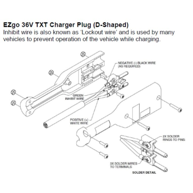 ezgo charger plug wiring diagram  wiring diagram power