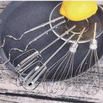 ECSWP Batteur à Oeufs – Batteur sur Socle, Vitesses avec Fouet, Crochet pétrisseur, Batteur Plat