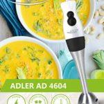 Adler AD 4604 Batteur, 200 W, Blanco Y Plateado