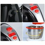 SHBV Électrique Main Robot Pâtissier,5 Vitesse 3.5L Cuisine Mitigeur Robot Menager Fouet pour Pâte à Pâtisserie Beater-Noir 3.5l