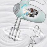 Whisk Électrique Ménage 300W Œuf À Usure À La Main Stick Stick Machine Automatique Fouetter Beurre Grand Moteur D'alimentation 5 Vitesse Conception Verticale Réglable