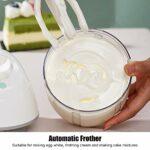 Honghong Batteur à œufs, mélangeur de crème Automatique à Faible Bruit, 900 ML pour la Maison Kitche moussant la crème Batteur à œufs pâtisserie