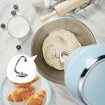 CYzpf Robot Patissier Automatique Stand Mixer 5L Bol de Mélange 1000W Multifonction Maison Petite Cuisine Mélangeur électrique avec Fouet Crochet Pétrisseur Appareils