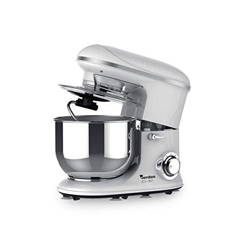 Mediawave Store – Robot pâtissier planétaire Jordan JCI801 avec 6 vitesses Bol en acier 6,5 l, mixeur de cuisine, grand robot pour la préparation de gâteaux (blanc)