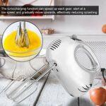 Mélangeur de pâte en acier inoxydable à 5 vitesses Outil de mélange de cuisson Mélangeur à main Batteur à main Ustensiles de cuisine Cuisine Petits appareils pour la cuisson ou la cuisson Prise UE 220
