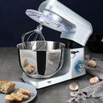 YFGQBCP Robot ménager Blender électrodomestiques Mixeur électrique 1500W haute puissance Dough Mixer 6 vitesses Fouet de cuisine mélangeur vertical