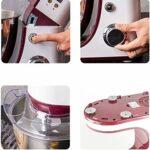ZZABC DDQZDJBJ Bol en Acier Inoxydable de Grande capacité 6 Vitesses Cuisine Batteur sur Socle Batteur à Oeufs crème Fouet mélangeur pâte à gâteau Machine à Pain