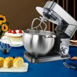 YGTMV 10L Robot Pâtissier Multifonctions,Robot avec Kit Pâtisserie, Bol en Acier Inoxydable,6 Vitesses avec Fonction Pulse,2000W Fouet À Fils, Batteur