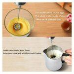 Mélangeur de café Mélangeur de poche Mélangeur électrique Mélangeur double printemps Tête de fouet à ressort for oeuf latte chocolat cappuccino mélangeur (Color : Silver, Taille : One Size)