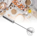 Batteur à oeufs, batteur à oeufs automatique 35cm batteur à oeufs en acier inoxydable batteur à oeufs semi-automatique mélangeur à oeufs domestique outils de cuisine