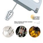 Mélangeur électrique à gâteau, batteur à oeufs mélangeur électrique 7 vitesses mélangeur de crème alimentaire multifonctionnel ABS durable pour la cuisine à la maison prise UE 220-240V