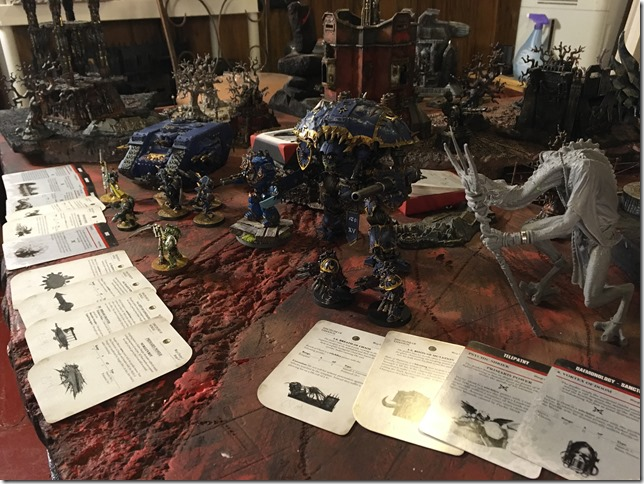 Thousand Sons with Chaos Daemons Allied vs Inquisition with Grey Knights Allied