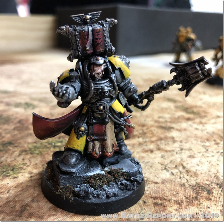 Imperial Fists Librarian in Terminator Armor by David B