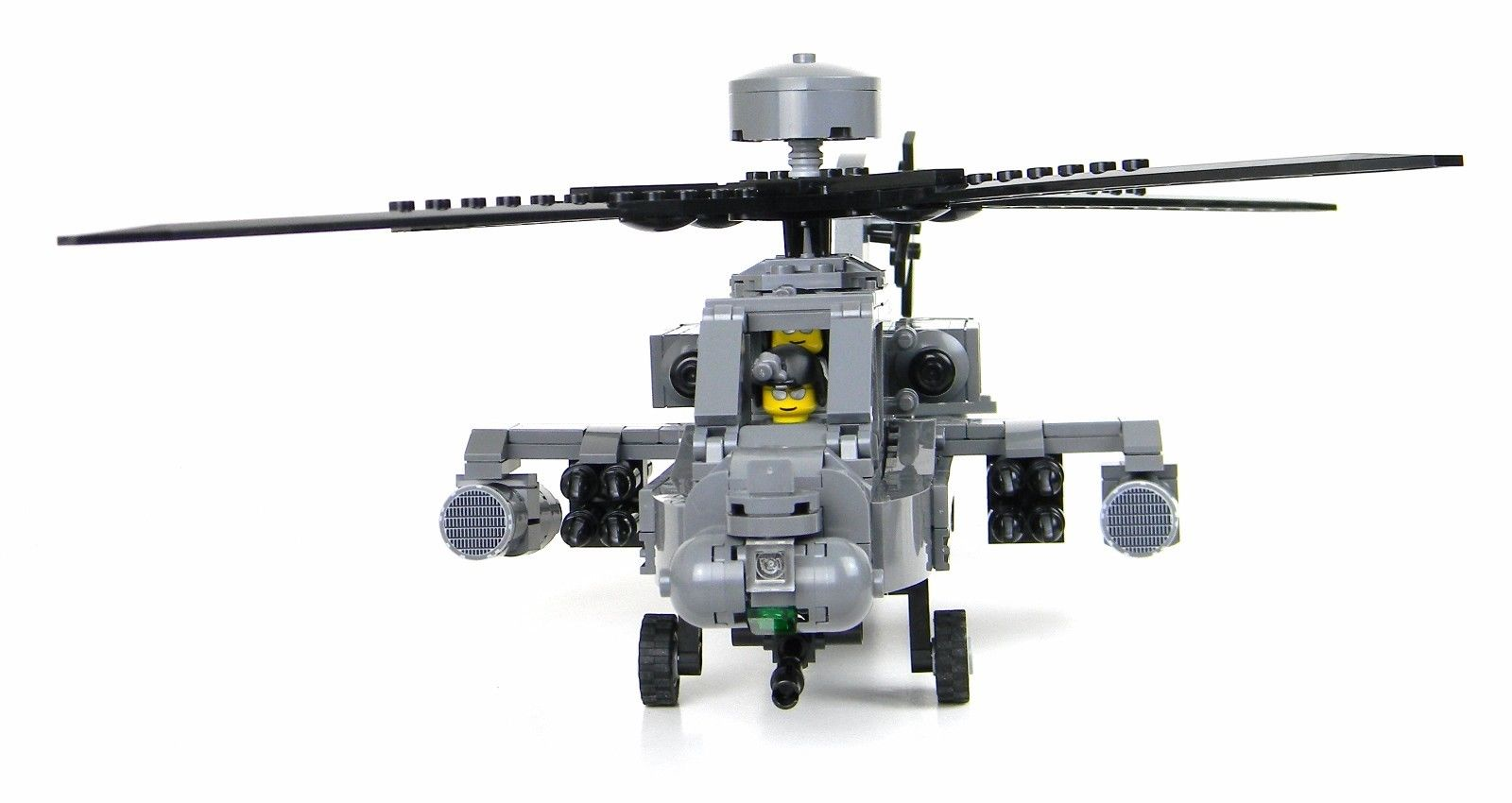 Ah 64 Apache Helicopter Made With Real Legoa Bricks