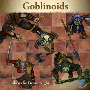 Devin Night's Token Pack #23: Goblins & Orcs
