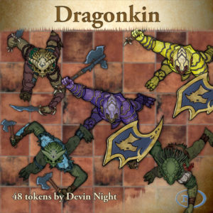 Devin Night's Token Pack #25: Dragon Kin