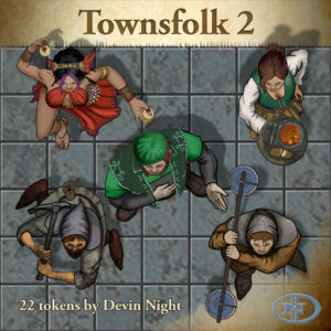 Devin Night's Token Pack #29: Townsfolk 2