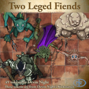 Devin Night's Token Pack #41: Two-Legged Fiends