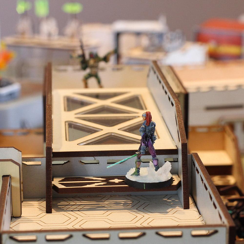 image of mdf bridge terrain in play