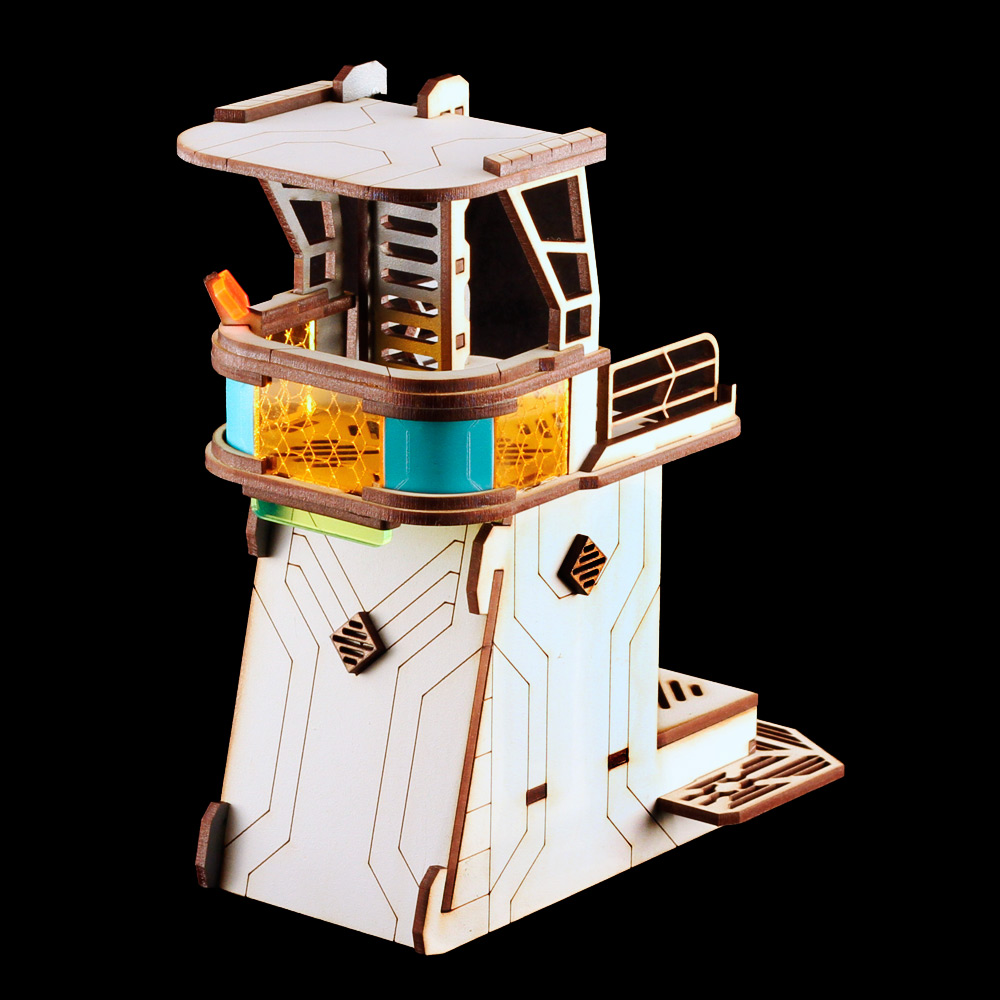 mdf laser terrain watch tower for infinity the game