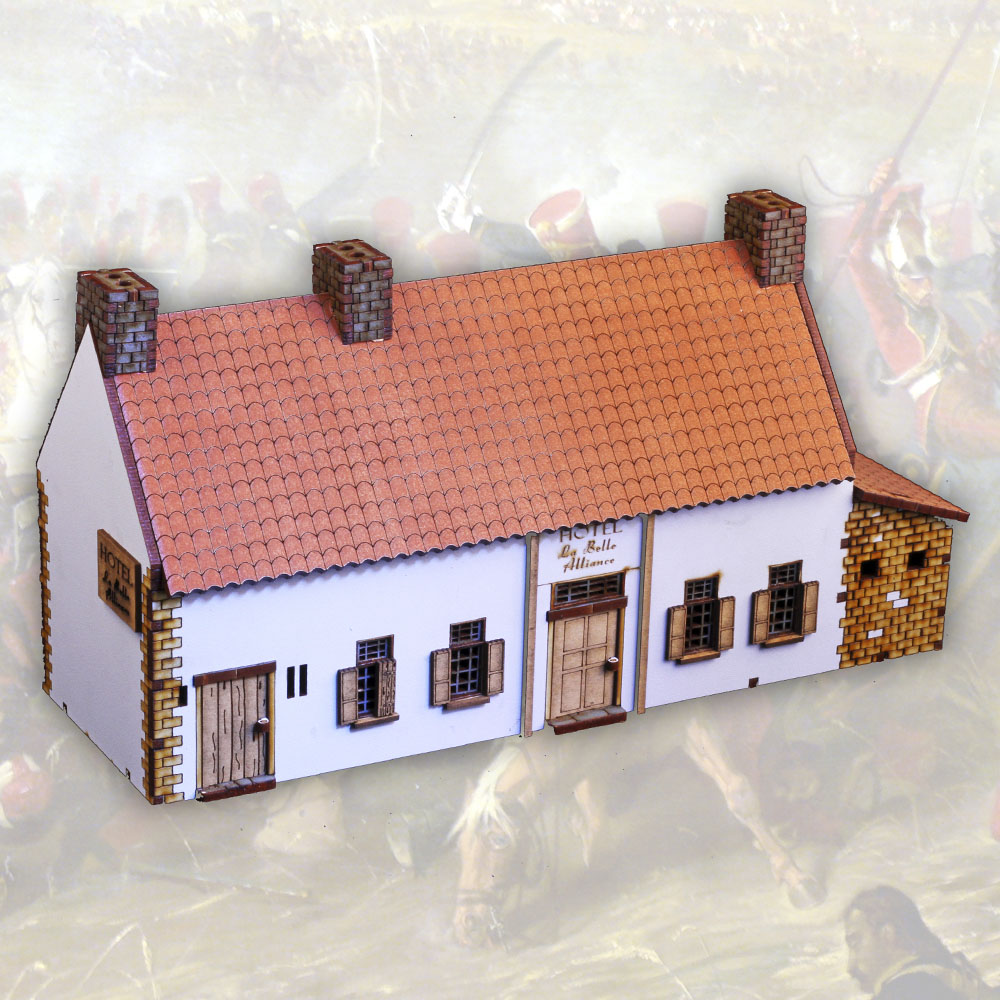 28mm laser cut model of la belle alliance