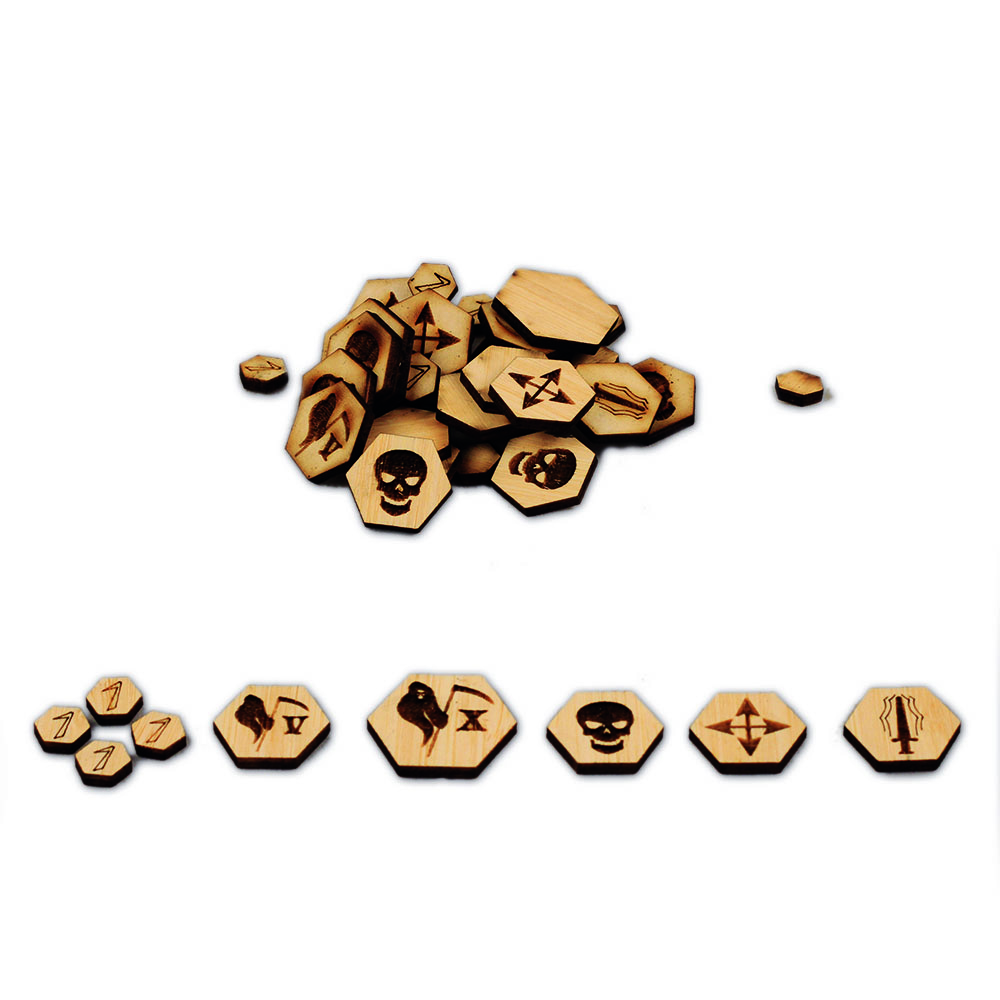 kings of war token and markers set