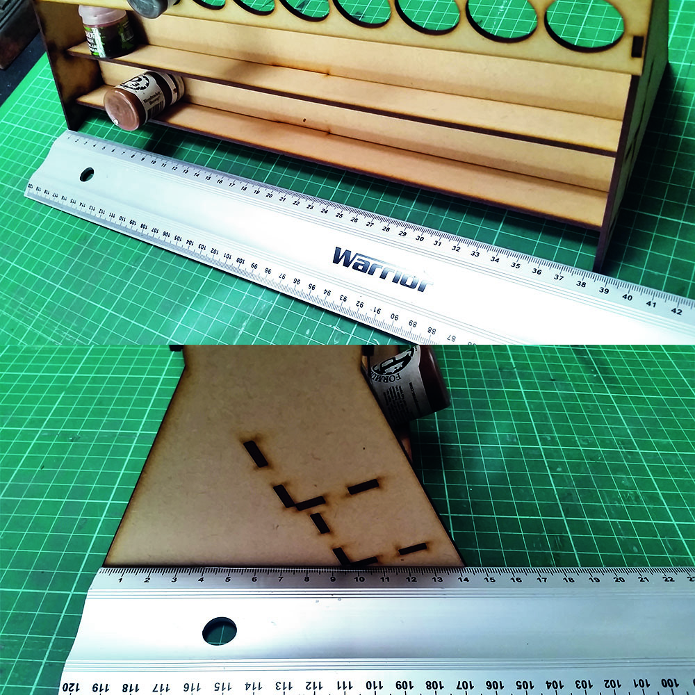 measurements of dropper bottle paint rack