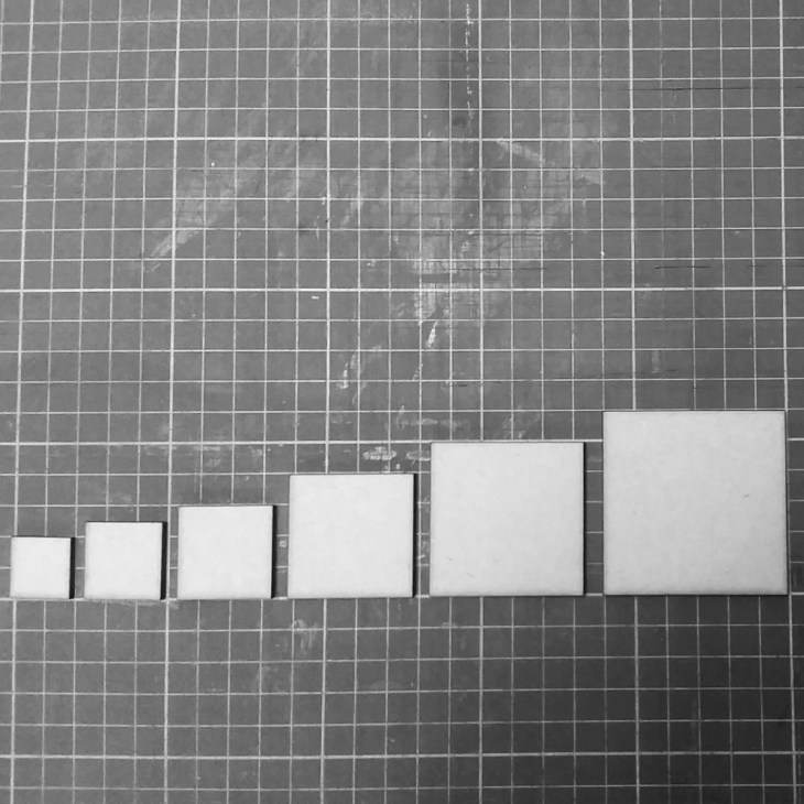 squares bases for tabletop miniature war gaming
