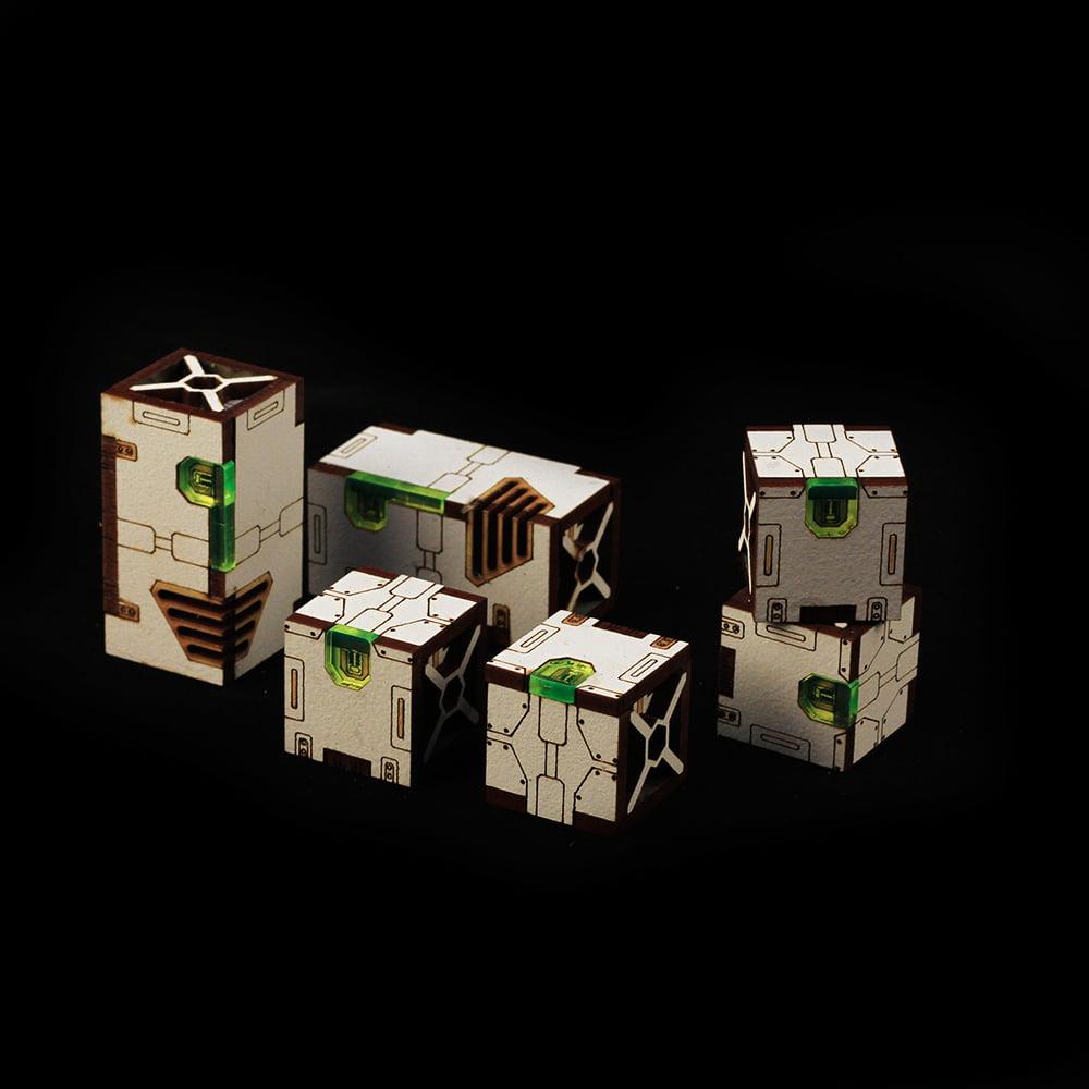 cargo box scatter terrain for warhammer 40k