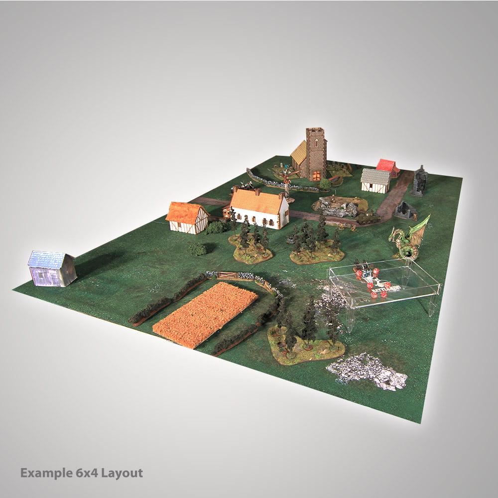 6x4 foot grass meadow battle mat for gaming