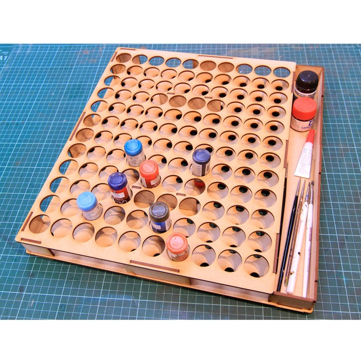 paint draw organiser for miniature painting