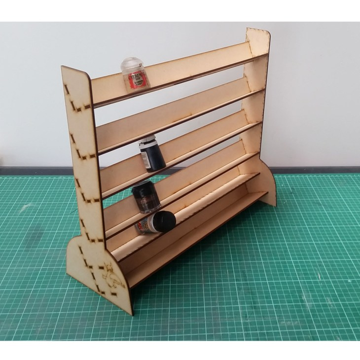 paint rack shelf for miniature figures painting