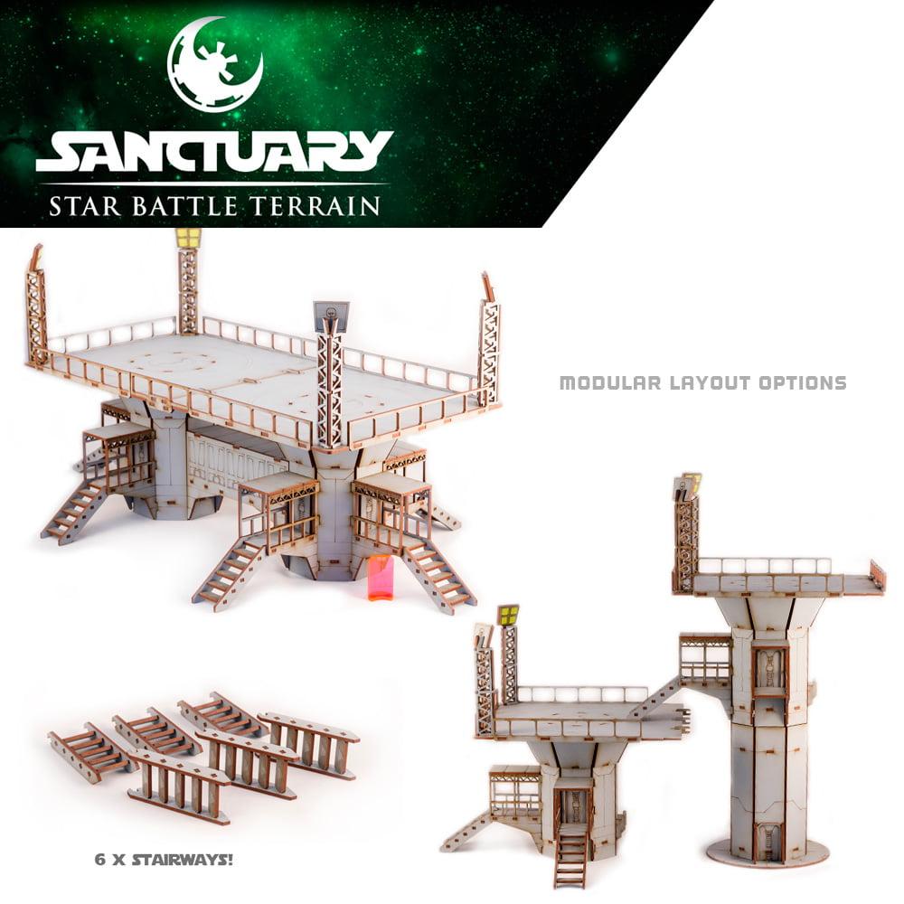 modular landing platform layouts for star wars legion terrain