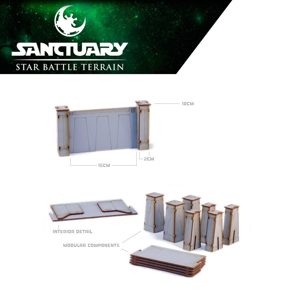 detail specifications of star wars legion wall set