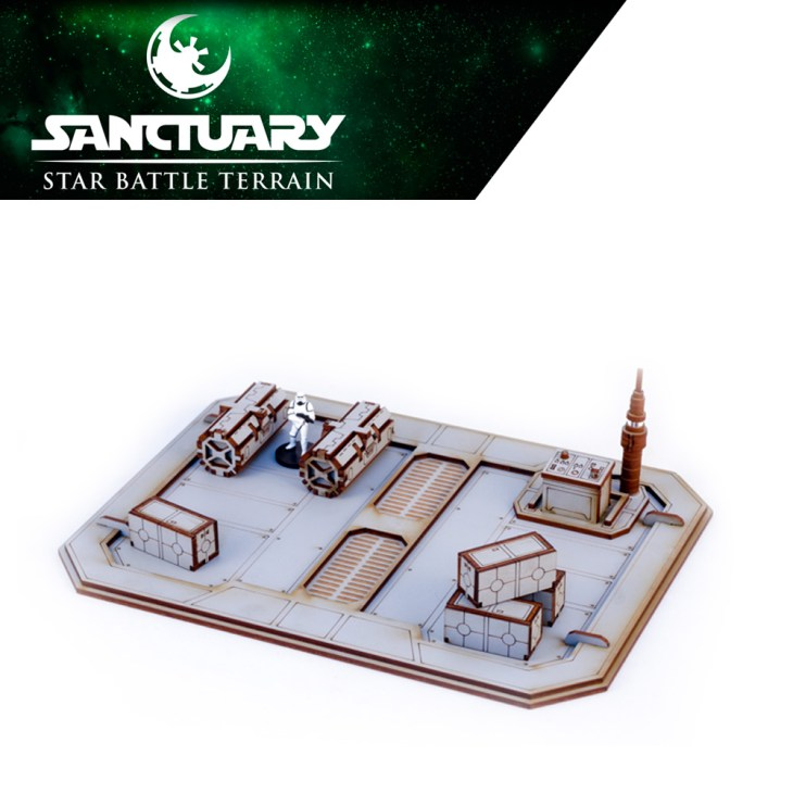 star wars legion crates and boxes on a landing platform