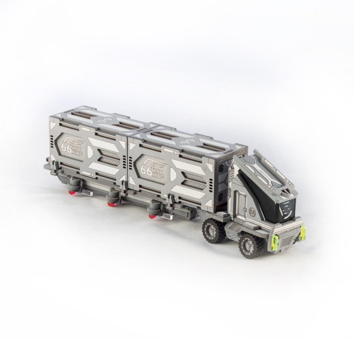 laser cut semi truck for infinity the game