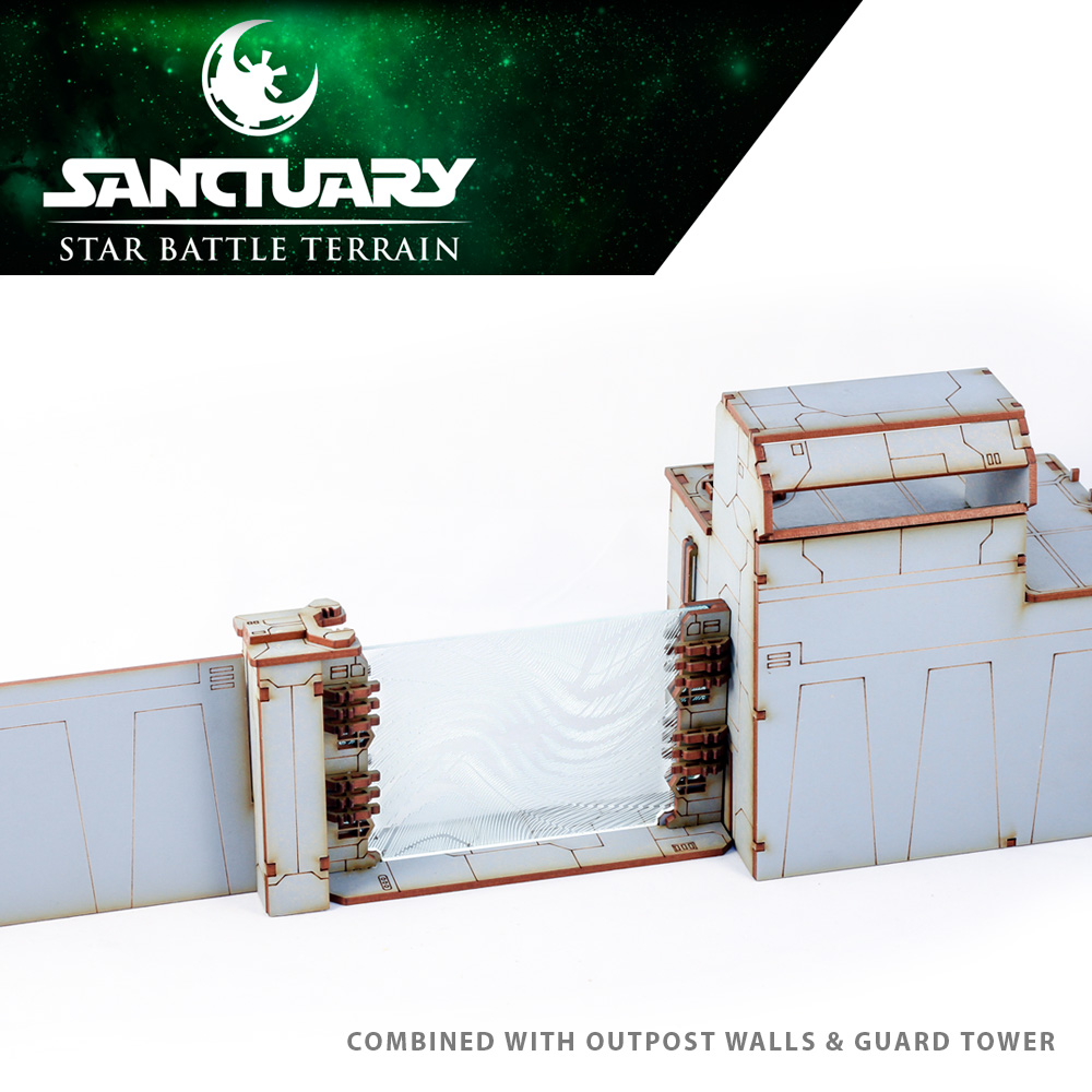 sci fi gate and wall system for tabletop wargaming