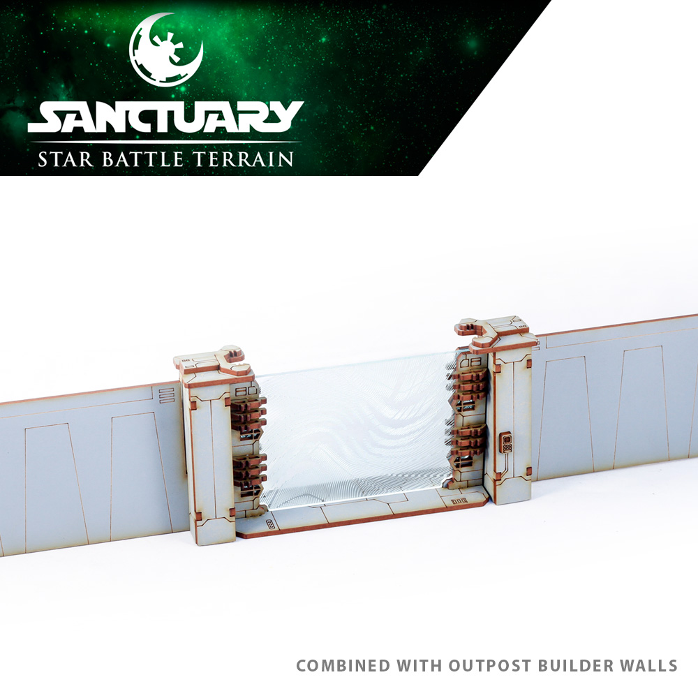 tabletop gaming force field gate and walls