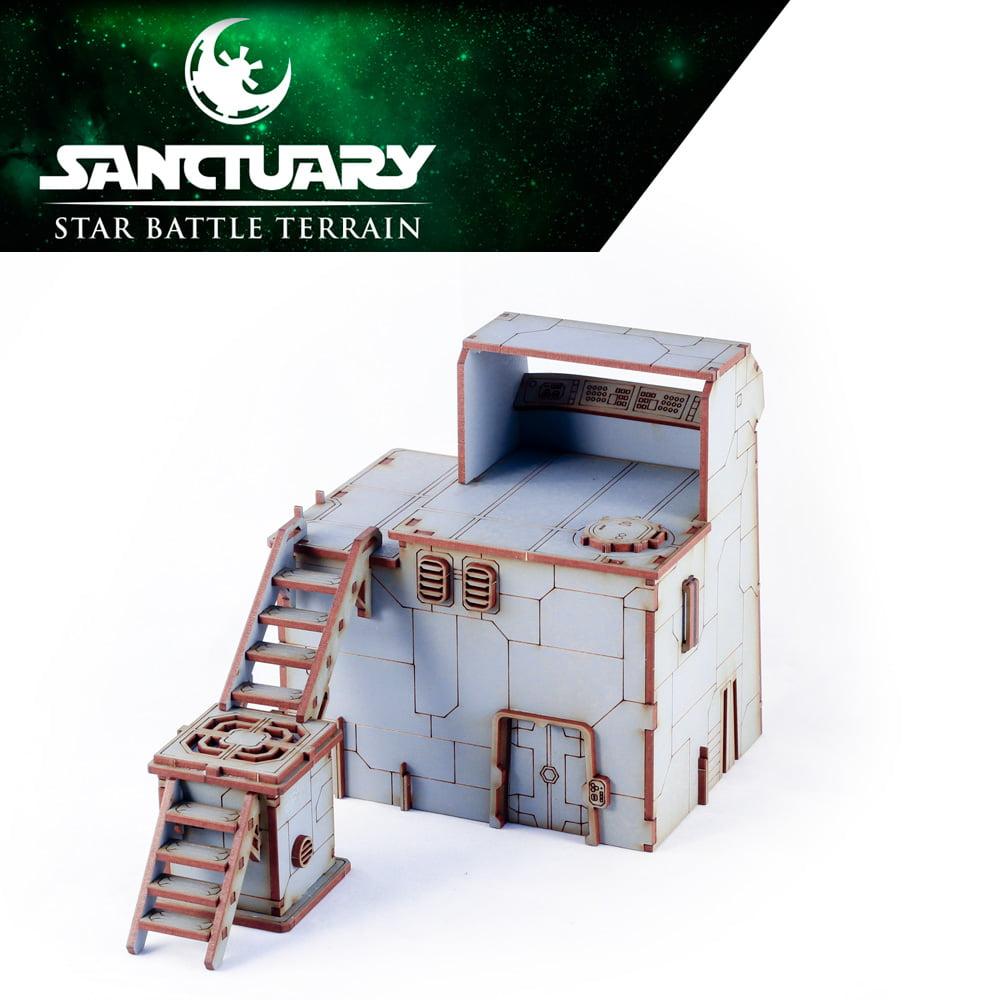 rear view of star wars legion guard tower