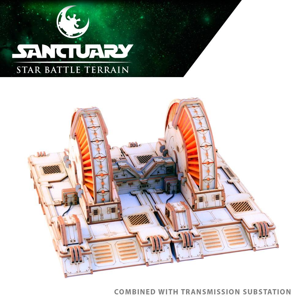 large star wars power generator model terrain for tabletop gaming